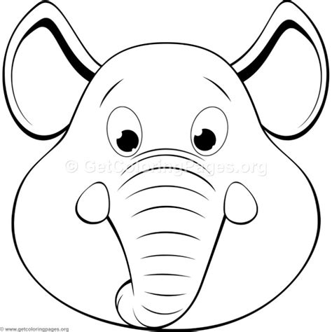 cute elephant head coloring pages getcoloringpagesorg