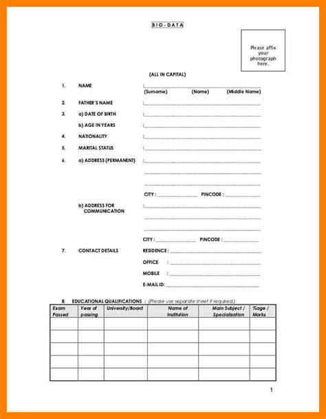 bio data resume format pdf 4 biodata format pdf emt resume