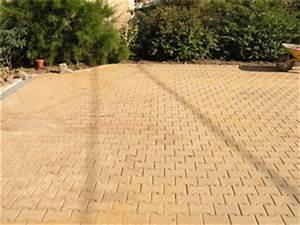 terrasse pave autobloquant sable nos conseils With terrasse en pave autobloquant