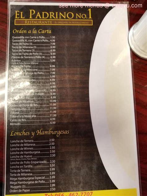 menu  el padrino restaurant laredo texas