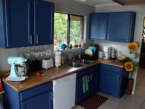 ellegant dark blue kitchen cabinets greenvirals style With kitchens with blue in it