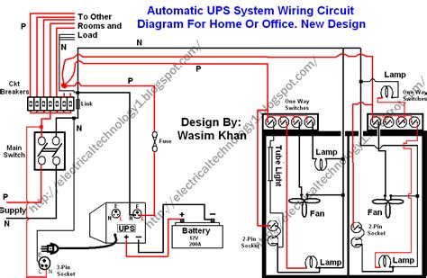 Home Security System Wiring Diagram by Automatic Ups System Wiring Circuit Diagram Home Office