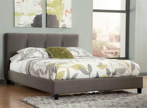 King Upholstered Platform Bed With Channel Tufted