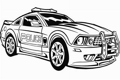 Coloring Pages Police Cop Printable States United