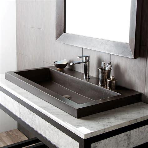 ideas  concrete bathroom sink  interior