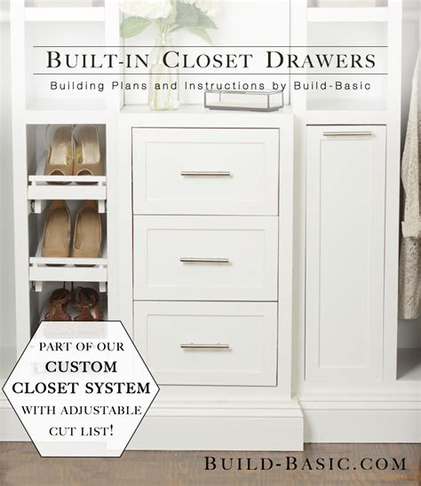 how to build a closet system the build basic closet system built in closet drawers