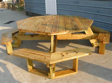 build octagon wooden picnic table  plans