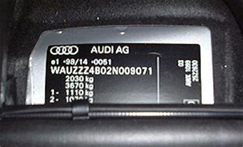 audi vin decoder audi a6 s6 rs6 vin location vehicle identification