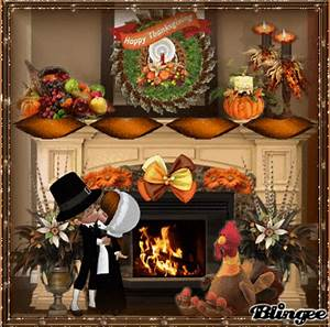 Thanksgiving Fireplace Picture #126639901 | Blingee.com