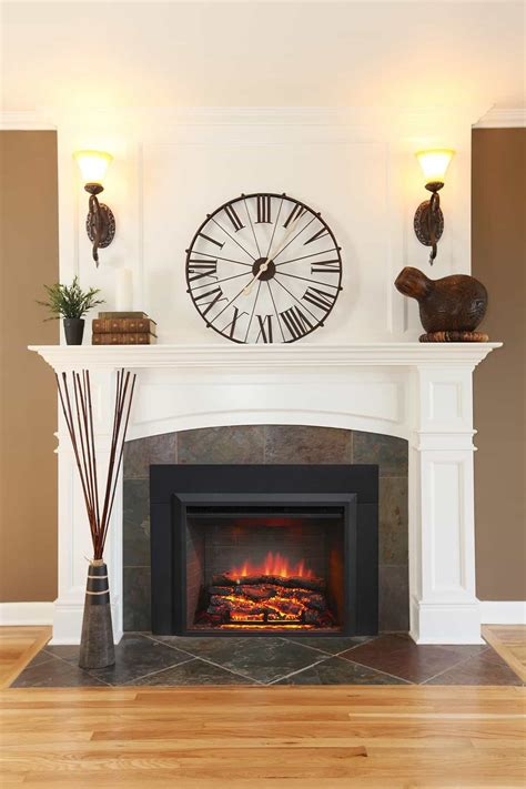 wall sconces design ideas fireplace with wall sconces and clock good fireplace