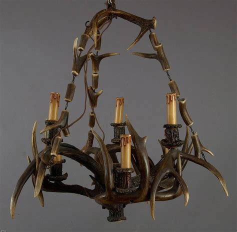 rustic black forest antler chandelier for sale at 1stdibs