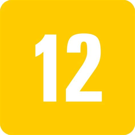 Free Picture Of The Number Twelve
