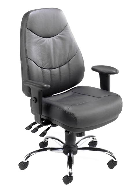 mercury leather 24 hour office chair bumsonseats