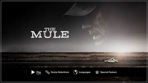 The mule ist ein drama von clint eastwood, das am 14. The Mule (2018) - DVD Menu