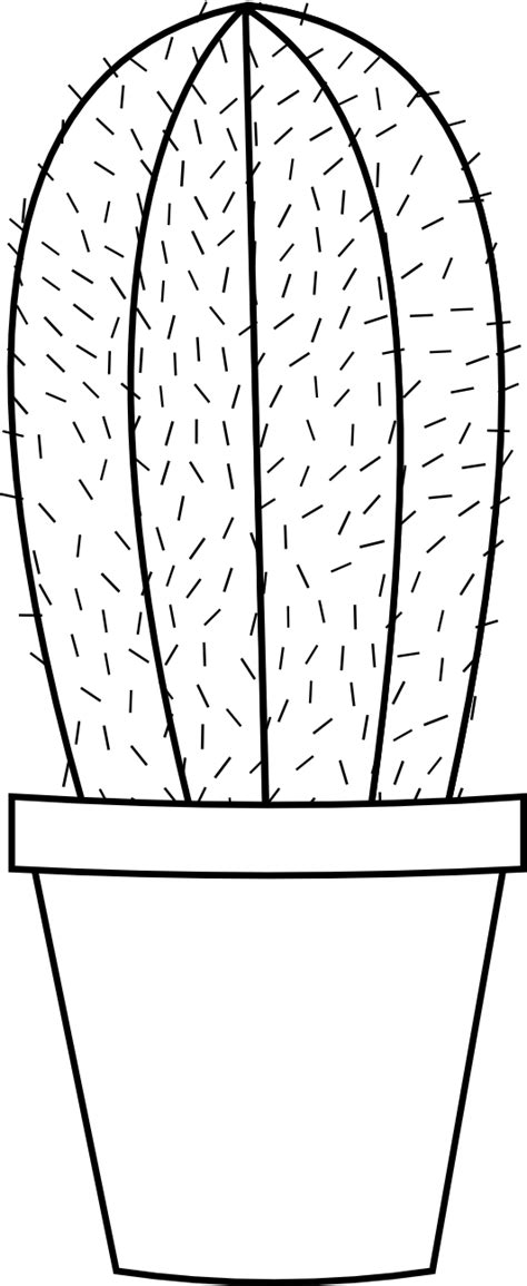 cactus 16 black white line flower scalable vector