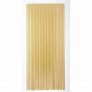 Rideau Hauteur 220 : rideau de porte lani re tahiti 100 x 220 cm brun et beige de rideau de porte lani re ~ Teatrodelosmanantiales.com Idées de Décoration