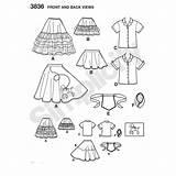 Poodle Skirt Pattern Drawing Sewing 1950s Getdrawings sketch template