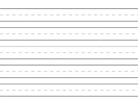 lined writing paper  kindergarten printable remember