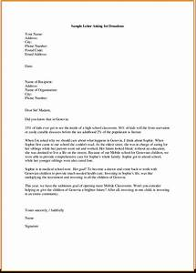 example of formal letters asking for corporate donations With free examples of donation letters