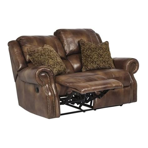 walworth reclining sofa reviews ashley walworth leather power reclining loveseat in auburn