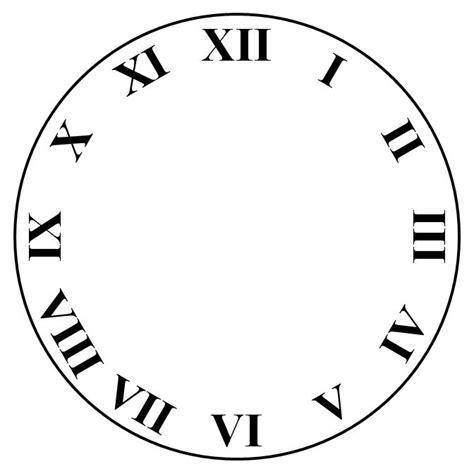 art clock face template drawing  powerpoint clock