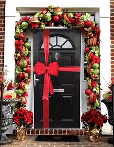 Red, Satin, Padded, Door, Bow, Decorating, Pack, Each