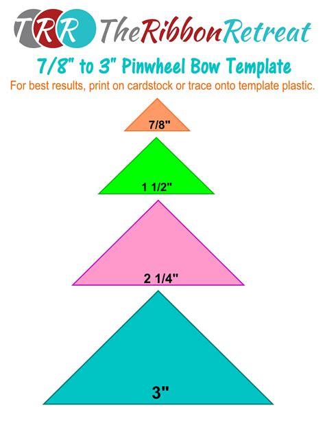 pinwheel bow template