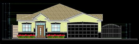 american style house  dwg plan  autocad designs cad