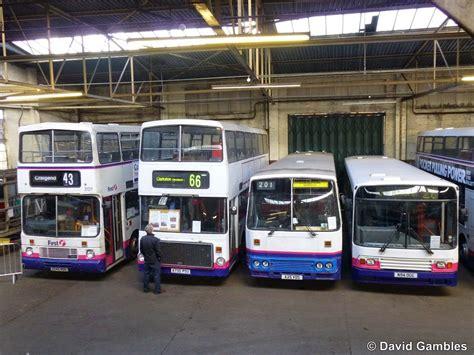 focus transport huge bus depot  glasgow