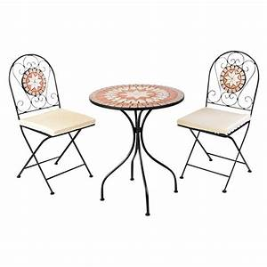 Mosaik Gartenmöbel Set : balkonset mosaik 3 teilig mit metallgestell und ~ Watch28wear.com Haus und Dekorationen