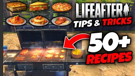 lifeafter tips tricks  recipes  cooking youtube