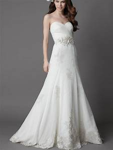 White wedding dress with a line silhouettewedwebtalks for White wedding dress