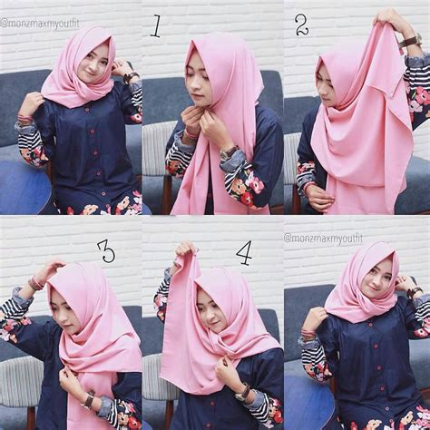 tutorial model hijab pashmina simple terbaru
