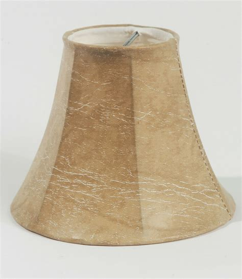 Urbanest Faux Leather Mini Chandelier Lamp Shades, Bell