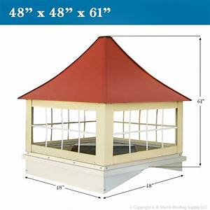 Custom cupolas from ab martin roofing supply for Cupola with windows