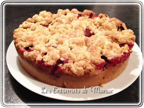 recette dessert avec prunes g 226 teau streusel aux prunes les entremets de manue