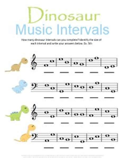 intervals worksheets images  theory