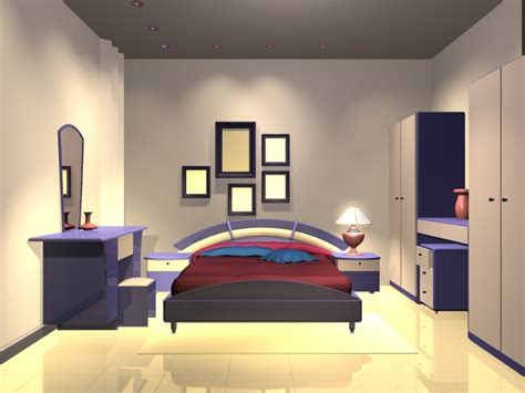 3d Bedroom Design Software Free by Modern Bedroom Design 3d Model 3dsmax Files Free