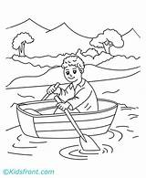 Row Coloring Pages Rowboat Drawing Side Drawings Bunny Template Saints Easter Sketch sketch template