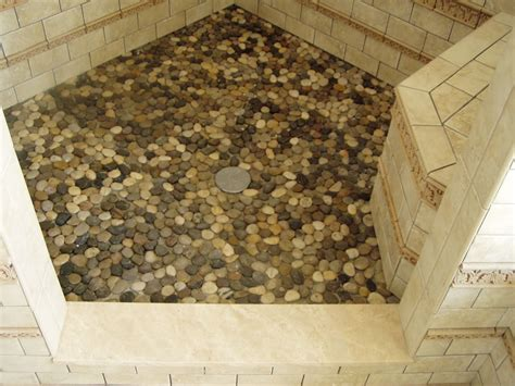 pebble shower floor pebble tile for shower floor houses flooring picture ideas blogule