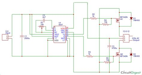 Watt Inverter Circuit Diagram