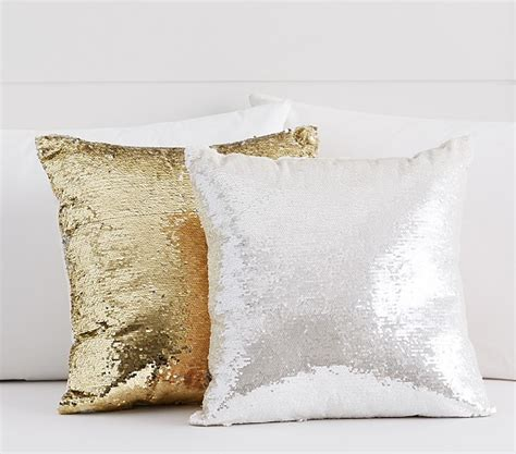 Dot Beaded Pillow Cover Pottery Barn by Mermaid Sequin Decorative Pillow Pottery Barn