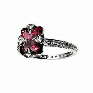 colored engagement rings black diamond ring With pink tourmaline wedding engagement ring
