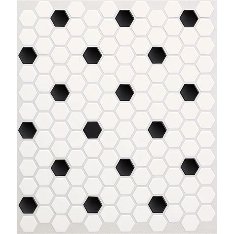 American Olean Porcelain Mosaic Tile by Shop American Olean 10 Pack Satinglo Hex White With