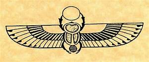 Ancient Egyptian Winged Scarab Rubber by ButterSideDownStamps