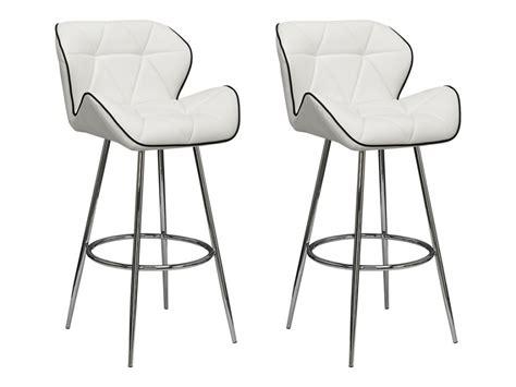 4 pieds 4 chaises rouen lot de 2 tabourets de bar lizzy simili 2 coloris