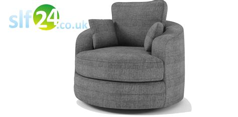 Swivel Cuddle Chair Grey by Home 187 Sale 187 Swivel Cuddle Chair Sofa Grey Fabric