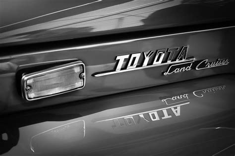 1970 Toyota Land Cruiser Fj40 Hardtop Emblem Photograph By