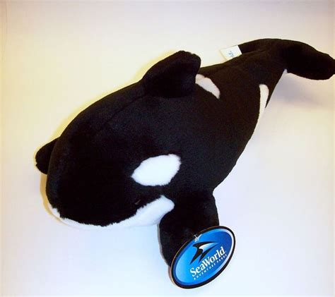 sea world 15 quot shamu plush stuffed animal orca killer whale seaworld shamoo new seaworld i