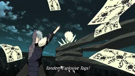 tobirama senju tandem paper bombs gojo kibaku fuda